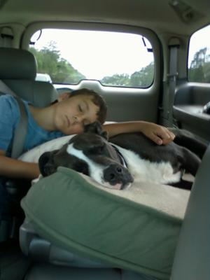 Tanner and Chopper going to Pisgah Froest to visit Mike!!
