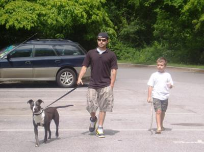 Mike, my oldest son, Tanner and Chopper