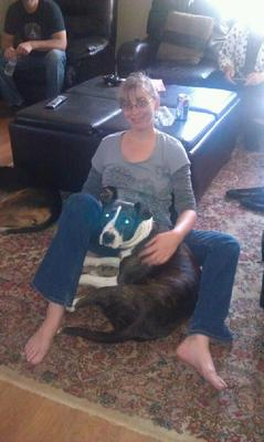 Jade and I relaxing on Thanksgiving