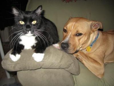 With her best friend Minkie