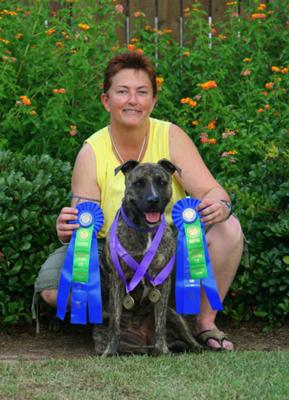 Roper with her AKC Titles!