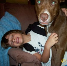 my son and my dog