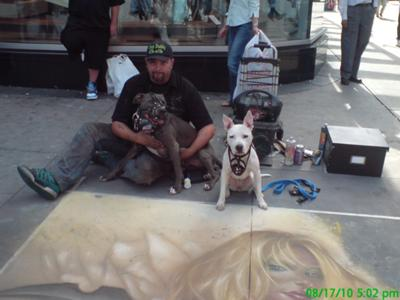 Earl and Matrix with the Chalkmaster - DT Toronto.