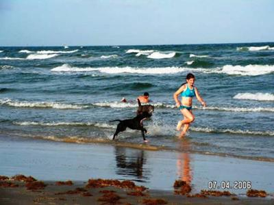Frolicking with his Girl...