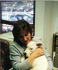 Blanca, white pitbull puppy